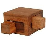 Tricky Drawers Box - Wooden Brain Teaser Puzzle