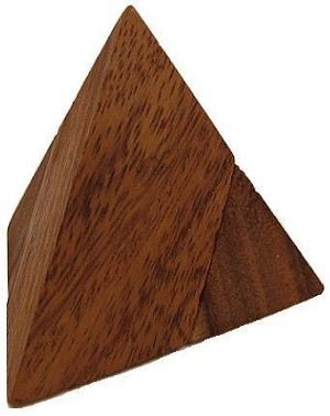 2 Pieces Pyramid - Wooden Puzzle