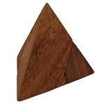 2 Pieces Pyramid (Medium) - Wooden Puzzle
