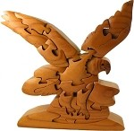 Bald Eagle 3D Wooden Puzzle Brain Teaser