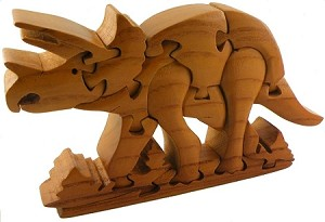 Triceratops 3D Wooden Puzzle Brain Teaser