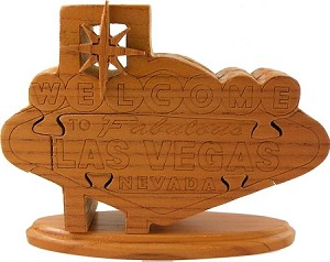 Welcome To Las Vegas - 3D Jigsaw Woodcraft Kit Wooden Puzzle