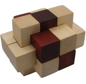 234 Wooden Cube - Brain Teaser Wooden Puzzle