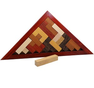Triangula - Packing Pentominoes Wooden Puzzle