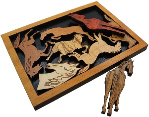 Pferderennen (Horse Racing) - Wooden Packing Brain Teaser Puzzle