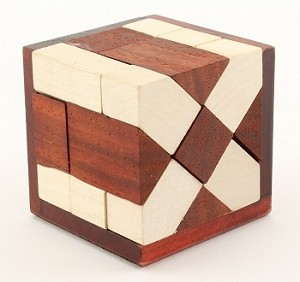 Soma Schief Cube - Brain Teaser Wooden Puzzle