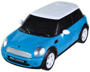 Mini Cooper -Blue 3D Jigsaw Puzzle Car Kit