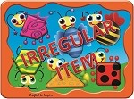 Irregular - Insects Shapes - Wooden Peg Puzzle