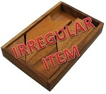 Irregular - T Letter With Tray - Wooden Puzzle Brain Teaser