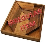 Irregular - K Letter With Tray - Wooden Puzzle