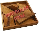 Irregular - H Letter With Tray - Wooden Puzzle Brain Teaser