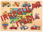 Irregular - Vehicles - Peg & Jigsaw Wooden Puzzle
