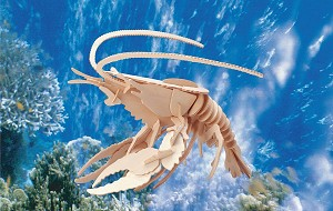 Lobster - 3D Jigsaw Woodcraft Kit Wooden Puzzle