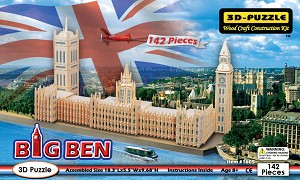 Big Ben - 3D Jigsaw Woodcraft Kit Wooden Puzzle