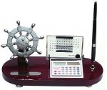 Ship Wheel Desk Organizer