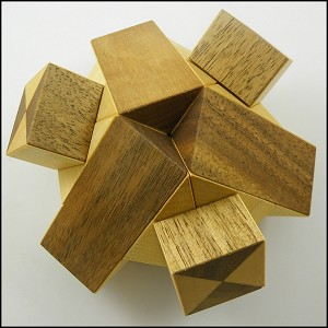 Two Tripods - Brain Teaser Wooden Puzzle