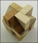 Three Wedges - Wooden Puzzle Brain Teaser