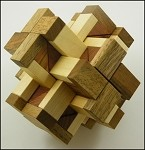 Hex Cross - Brain Teaser Wooden Puzzle