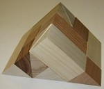 Roof 9x3 - Wooden Puzzle Brain Teaser