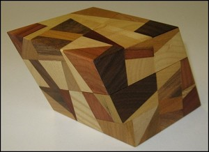 Rhombohedron 2 big - Wooden Puzzle Brain Teaser