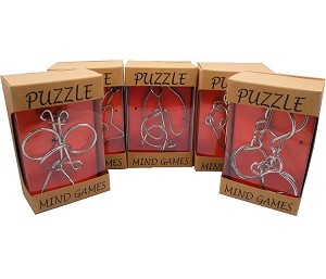 Five Disentanglement Metal Puzzles Set - Group Special