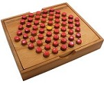 Solitaire Pegs Hexagon - Strategy Wooden Game