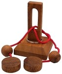 Oliver String Medium - Wooden Puzzle Brain Teaser
