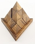 18 Piece Triangle Pyramid - Wooden Puzzle Brain Teaser