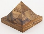 10 Piece Square Pyramid - Wooden Puzzle Brain Teaser