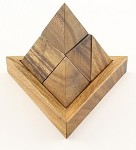 5 Piece Triangle Pyramid - Wooden Puzzle Brain Teaser