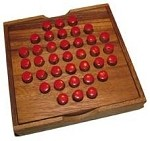 Solitaire Pegs - Strategy Wooden Game