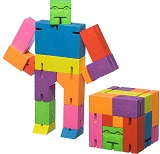 Cubebot Large  Multi Color - Wooden Cube Puzzle