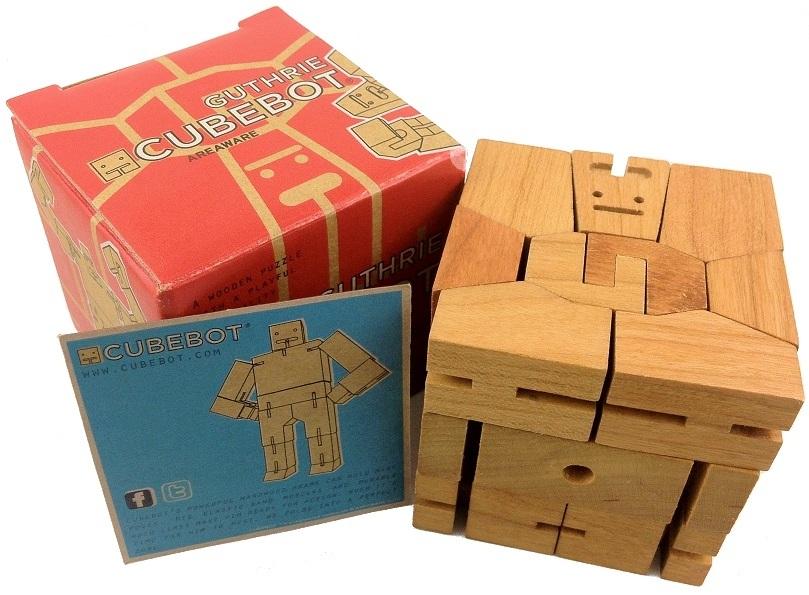 Guthrie Cubebot Wooden Brainteaser Puzzle