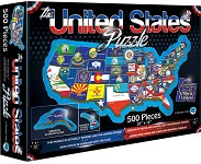 USA Puzzle - 500 Pieces Jigsaw Puzzle By A Broader View
