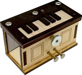 Piano Box - Secret Wooden Puzzle Box By Constantin
