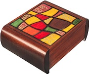 Modern Art Secret Wooden Puzzle Box