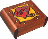 Secret Heart Wooden Puzzle Box