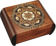 Chakra Flower Secret Wooden Puzzle Box