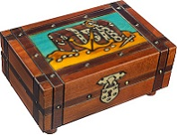 Pirate's Plunder Treasure Chest Secret Wooden Puzzle Box