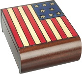 American Flag Secret Wooden Puzzle Box