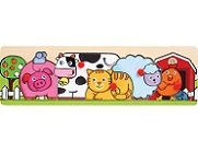 Farm Animals - Wooden Peg Puzzle