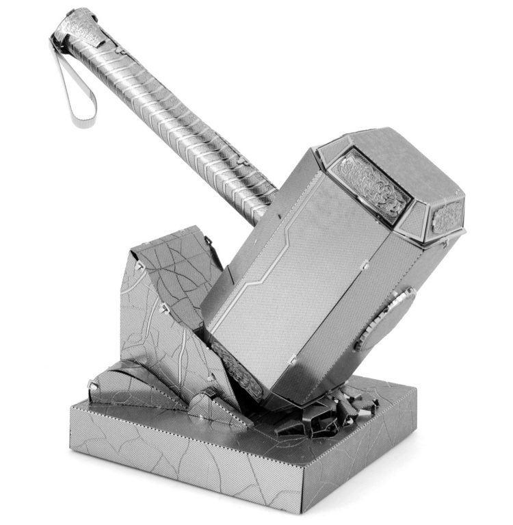 mjolnir thor 39 s hammer metal earth 3d model puzzle