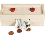 Buttons Puzzle Box - Money Gift Trick Box