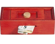 Red With Knob Puzzle Box - Money Gift Trick Box