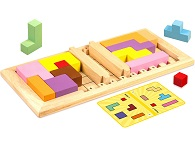 Katamino Family - Pentominoes Wooden puzzle and Strategy Game by Gigamic