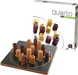 Quarto Mini - Wooden Strategy Game by Gigamic