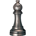 Cast Chess Bishop Black - Hanayama Metal Puzzle