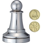 Cast Chess Pawn Silver - Hanayama Metal Puzzle