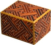 2 Sun 10 Steps Red Saya - Japanese Puzzle Box