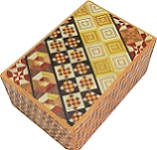4 Sun 7 Steps + 7 <Font color=#0000FF><b>Dual Compartment</b></font> - Yosegi Kuzushi Japanese Puzzle Box